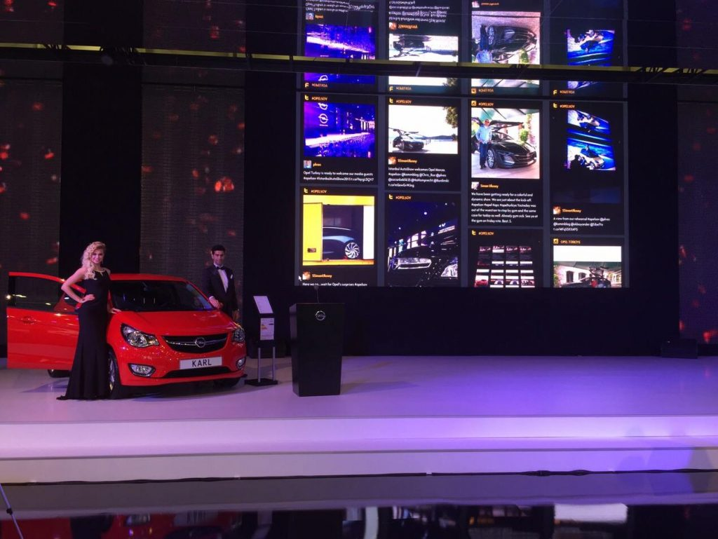 Opel Social Wall at Autoshow